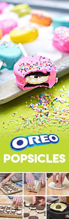 Diy Crafts Ideas [ad] Remix your summer BBQ by creating these OREO Cookie Popsicles. A twist on traditional fruit-flavored pops, these cool chocolately treats will keep your guest chilled out to the max! No Bake Desserts, Delicious Desserts, Dessert Recipes, Yummy Food, Yummy Yummy, Cute Food, I Love Food, Pastel, Summer Bbq