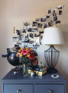 Love the simplicity & movement of this old photo display   D*S Team Tours: Garrett's Chicago Greystone   Design*Sponge