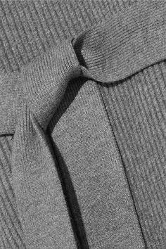 DKNY - Ribbed-knit Vest - Gray - M/L