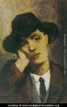 Portrait of Modigliani - Amedeo Modigliani - www.modigliani-foundation.org