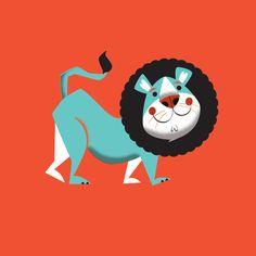 Evan the lion Art Print | Illustrator: Mike Dornseif