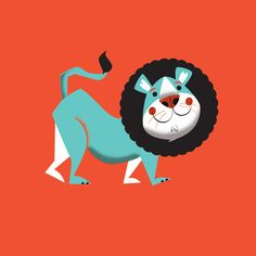 Evan the lion Art Print by Mike Dornseif   Society6