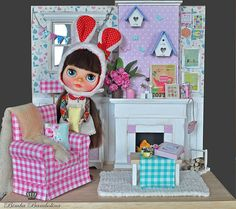 OOAK Custom Blythe TEA and living room | Flickr: Intercambio de fotos