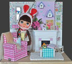 OOAK Custom Blythe TEA and living room | Flickr: Intercambio de fotos