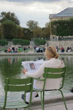 Relaxing in the Tuileries Garden in Paris-had lunch here on our first day