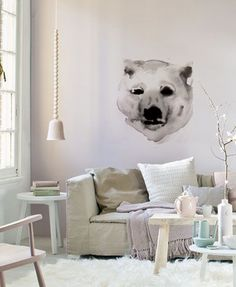 Polar Bear Wall sticker by Durch Duo barefootstyling.com