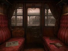 Belle Époque Europe.Riding in comfort; train car by Ilya Zonov