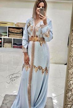 Material: Polyester Silhouette: A-Line Dress Length: Floor-Length Sleeve Length: Long Sleeve Combination Type: Single Closure:. Morrocan Dress, Moroccan Caftan, Oriental Dress, Oriental Fashion, Arab Fashion, Caftan Dress, Arabic Dress, Feminine Dress, Mode Style