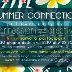 Il 30 giugno 2016 dalle ore 17,30 alle 22,30 il gruppo al femminile Connessioni Creativee Anna Pernice Communicationfesteggeranno l'arrivo dell'estate al Villino Manina a Napoli, in V…