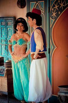 Jasmine and Aladdin Aladdin And Jasmine, Princess Jasmine, Disney Princess, All Disney Characters, Disney Movies, Imagination Station, Disney Pictures, Disney Parks, Disneyland