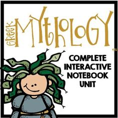 Greek Mythology: Interactive Notebook Unit - Myths, Foldables Designed for 3-7th grades - I would use parts for second