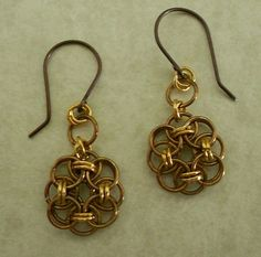 Antique and Shiny Brass Chainmaille by byawire