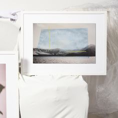 """Wonderland 05 by Alice Quaresma for Tappan Collective 13"""" x 20"""" original work matted with white frame $930"""