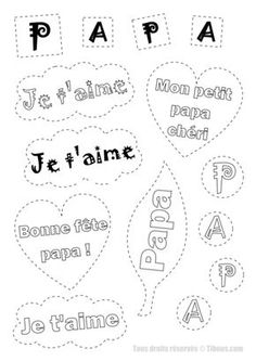 motifs fete des peres,mots tendres pour papa,coloriage fete des peres,pour les enfants,tibous,tibous,papa je t'aime Preschool Art, Kindergarten Activities, Kids Fathers Day Gifts, Diy For Kids, Crafts For Kids, Diy Father's Day Gifts, Puffy Paint, Mother And Father, Teaching Art