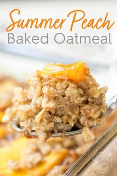 Put breakfast on autopilot with this easy summer peach baked oatmeal recipe. It'… Put breakfast on autopilot with this easy summer peach baked oatmeal recipe. It's packed with fresh peaches for sweetness and heart-healthy pecans for crunch! Breakfast Time, Breakfast Dishes, Healthy Breakfast Recipes, Brunch Recipes, Gourmet Recipes, Cooking Recipes, Breakfast Ideas, Peach Healthy Recipes, Oatmeal Breakfast Recipes