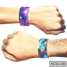 @risted_bracelets Risted #fashion #bracelet . A #beautiful #pink and #turquoise #nebula #space design on this reversible #wristband. #comingsoon