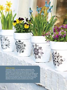 Do It Yourself (Spring 2014) - terra cotta pots with 'tattoo' design