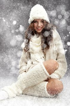 Christmas greetings. Can have individual or group photos in snow. Model poses and candid smiles. Probably needs props like some greenery or a huge Santa sled. So many ideas. :)