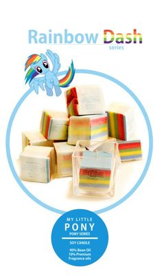 Mylittle pony concept hand made candle