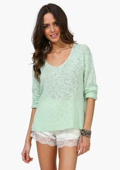 Love the mint sweater