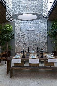 The Giri Café, strikingly designed Ibiza restaurant in San Juan: Ibiza Restaurant, Restaurant Design, Interior Architecture, Interior And Exterior, Interior Design, Commercial Design, Commercial Interiors, Ibiza 2016, Spain