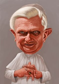 Pope Benedicto XVI #Caricature #FunnyFaces