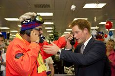 Prince Harry joins ICAP's brokers in its London office for the annual charity day.