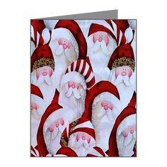 santa Note Cards (Pk of 20) on CafePress.com
