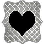 Gray_Black Heart