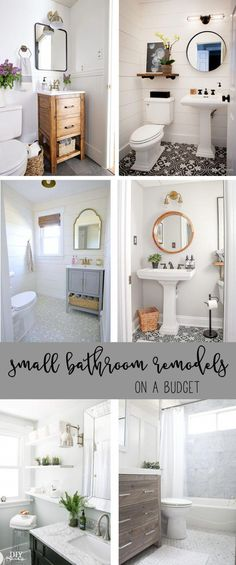 Small Bathroom Remodels with a Big Impact. Small Bathroom Remodels on a budget Needing inspiration for remodeling that small bathroom? Check out my favorite small bathroom remodels that make a big impact! Bathroom Makeovers On A Budget, Diy Bathroom Remodel, Bath Remodel, Bathroom Vanities, Master Bathroom, Bathroom Ideas On A Budget Small, Bathroom Cabinets, Dyi Bathroom, Brown Bathroom
