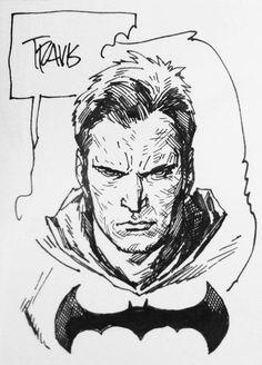 Bruce Wayne Batman sketch | Travis Charest