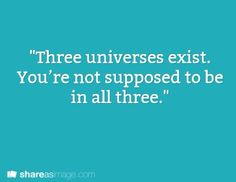 Writing Prompt: Three universes