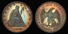 1876 Twenty Cent Piece PCGS PR64 CAC - Submitted by Legend Numismatics (http://www.legendcoin.com/cgi-bin/inventory/browse2.pl?action=new) #CoinOfTheWeek #COTD