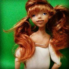 Милая Рыжулечка. Решила сделать куклу для себя.