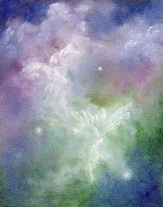 Dancing Angels, Angel Art by Marina Petro, painting by artist Marina Petro