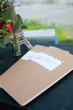 air mail style envelope