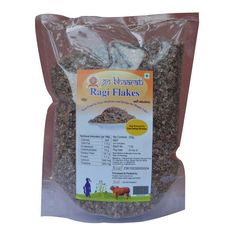 Ragi Flakes is made from finest quality ragi (finger millet in english) cereal. Ragi is very rich in iron content and is very low on fat and calories. Ragi is especially valuable as it contains the amino acid methionine, which is lacking in the diets of hundreds of millions of the poor who live on starchy staples such as cassava, plantain, polished rice, or maize meal.