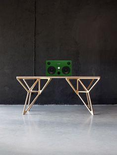 Vintage Green Speakers by Pototskiy Audio