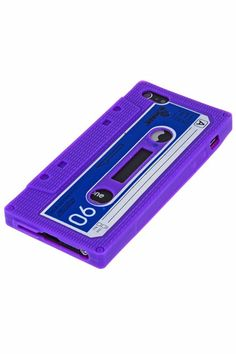 Cassette Tape Protective Back Case Cover for iPhone 5 - Purple