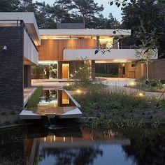 "13.3k Likes, 91 Comments - Architecture & Design (@_archidesignhome_) on Instagram: ""Dune Villa by Hilberinkbosch architects Location : Utrechtse Heuvelrug #Holland #_archidesignhome_…"""