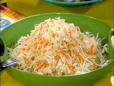 Oil and Vinegar Slaw Recipe : Rachael Ray : Food Network (My favorite coleslaw) Vinegar Slaw Recipe, Oil And Vinegar Coleslaw, Food Network Recipes, Cooking Recipes, Healthy Recipes, Weeknight Recipes, Kosher Recipes, Cooking Ideas, Vegetarian Recipes