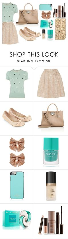 """""""Untitled #53"""" by shibhazakura ❤ liked on Polyvore featuring Oasis, Rochas, Accessorize, Jimmy Choo, Monsoon, Nails Inc., Kate Spade, Too Faced Cosmetics, Bulgari and Laura Mercier"""