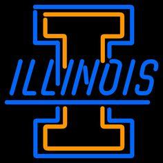 Illinois Fighting Illini Neon Sign 16x16