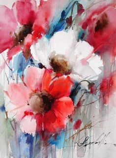 Fabio Cembranelli - Paintings Red, White - Watercolor, 2013