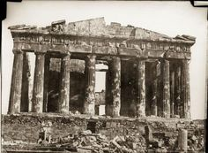Parthenon, Athens, 1851 - Photo by Normand Alfred-Nicolas Athens Acropolis, Athens Greece, Greek History, World History, Rare Photos, Old Photos, Classical Greece, Ancient Greek, Historical Photos