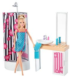 Barbie Doll and Bathroom Furniture Set >>> To view further for this item, visit the image link.