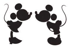 Disney Mickey And Minnie Silhouette Clip Art