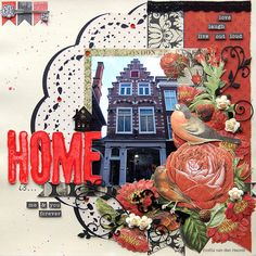 "Emilia van den Heuvel: Home is... {Merly Impressions & Kaisercraft} - page 1 KAISERCRAFT ""curiosity"" collection."