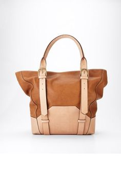 2960ab68a4d5 tan tote from ann taylor of all places Canvas Leather