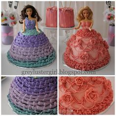Princess and the Popstar Birthday Party Barbie Cake decorating